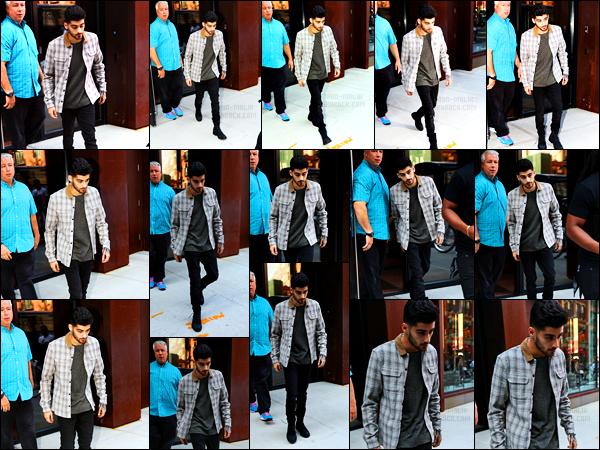 """"""" 13/06/16 : Zayn a été photographié alors qu'il sortait de l'appartement de Gigi Hadid situé à Manhattan (NY)Seconde fois de la journée que Zayn sort de l'appartement de sa petite-amie, celle-ci n'étant présente. Il a changé cependant de tenue. Un gros top ! """""""
