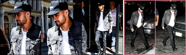 14/09/2016 : Zayn a été photographié lorsqu'il arrivait à l'appartement de sa petite-amie situé à New-York !Alors que de son côté, Gigi se prépare pour plusieurs défilés, Zayn en profite pour partir à la rencontre de ses fans qui attendaient devant l'immeuble.