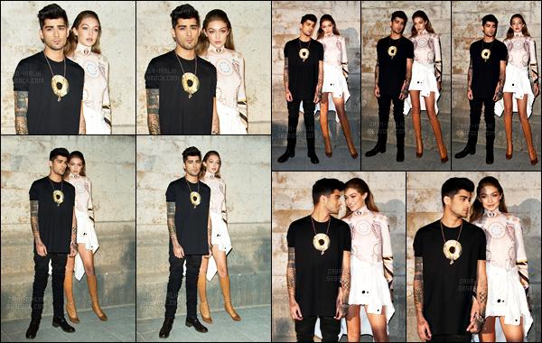 02/10/16 : Zayn s'est rendu au défilé de mode de la marque « Givenchy » lors de la Fashion Week de Paris.C'est encerclé de personnes que Zayn a été vu quittant les lieux en compagnie de Gigi et Anwar. Je trouve le comportement des fans irrespectueux.