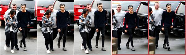 ' 20/11/2014 : Zayn a été photographié en arrivant aux locaux de l'émission « Jimmy Kimmel Live » situés à Hollywood  J'aime assez la tenue que porte Zayn bien que les chaussures soient pas super belles. Les One Direction se sont également rendus chez Ellen DeGeneres. '