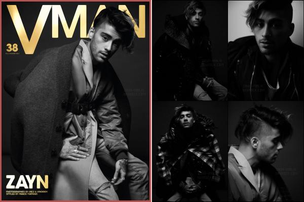 """"""" Zayn fait la première de couverture du magazine américain « V Man » édition d'hiver.  Dans le magazine, Zayn parle de ses inspirations, de son prochain album et du fait qu'il n'a jamais prévu d'être aussi célèbre. J'aime beaucoup les photos.  """""""