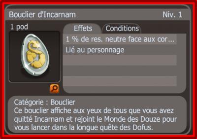 Tutoriel Bouclier D'incarnam