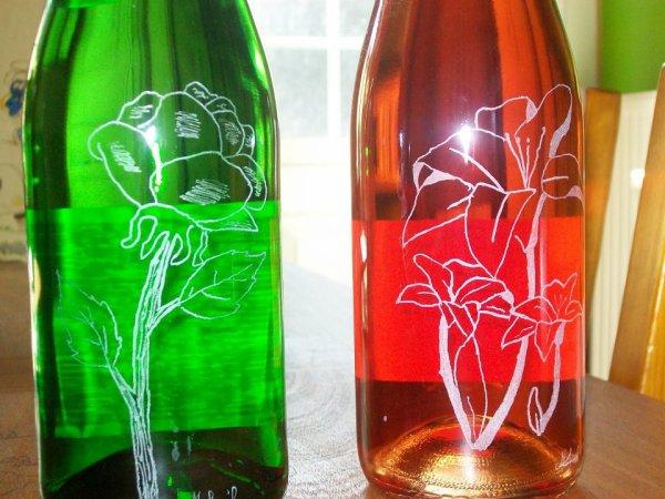 gravure sur bouteilles