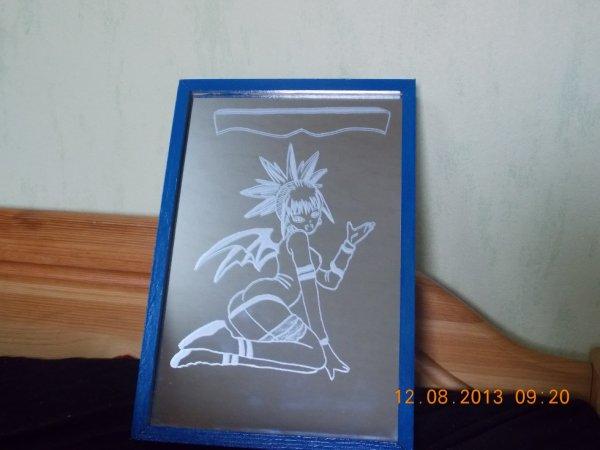 gravure sur miroir avec caisson