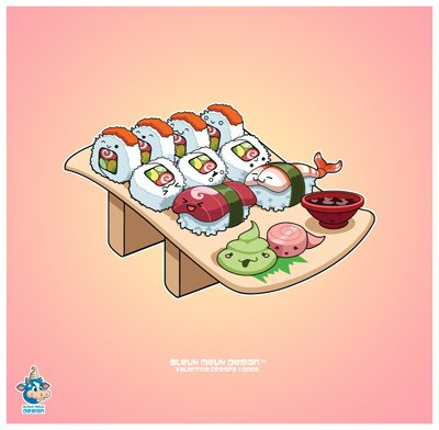 Je commence par mon plat preferer ...les SUSHIIII - すし
