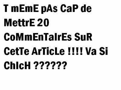 Chiche Ou Pas Chiche??