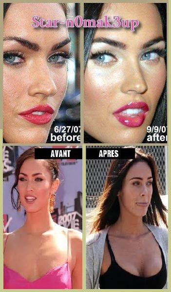 megan fox chirurgie esth tique rhinoplastie star n0mak3up les stars comme vous ne les avez. Black Bedroom Furniture Sets. Home Design Ideas