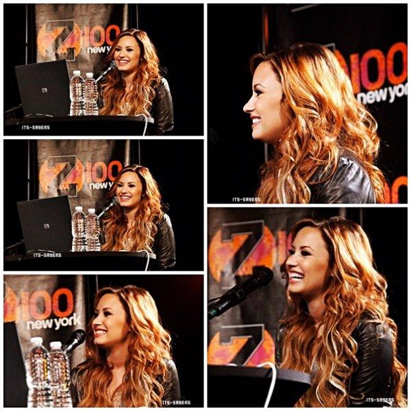 Dimanche mars 11: Demi eu une conversation en direct avec Z100 à New York le 8 Mars 2012 à New York. .