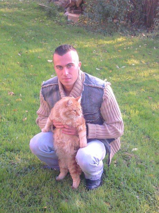 ancienne photo avec un chat