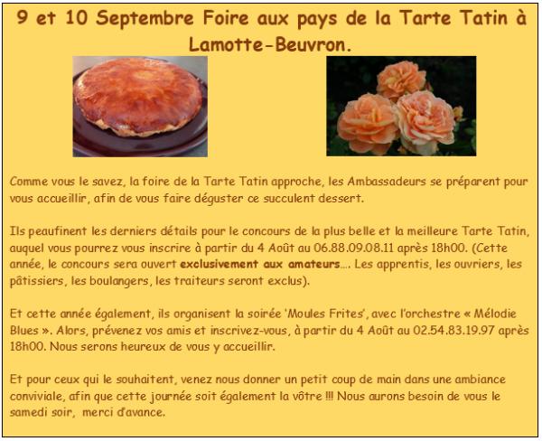 SOIREE MOULES-FRITES TARTE TATIN A LAMOTTE-BEUVRON..2017