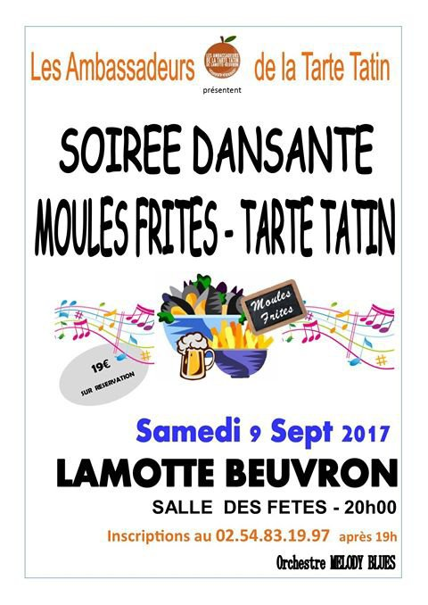 SOIREE MOULES FRITES DU 9 SEPTEMBRE 2017...