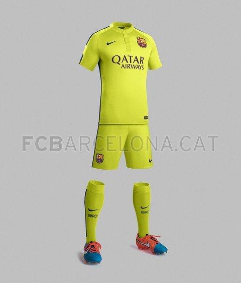 Le 3e maillot du FC Barcelone pour la saison 2014-15.