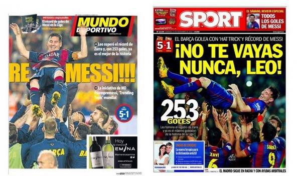 Lionel Messi dans la légende du football espagnol !