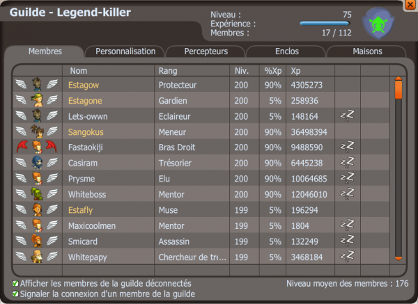 Une guilde : Legend-killer !