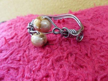 bracelet en fil d'aluminium Marron clair