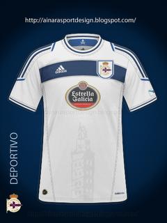 Maillot 2011-2012 du Deportivo de l'éxtérieur