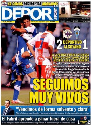 Le Deportivo se qualifie pour le tour suivant avec douleur