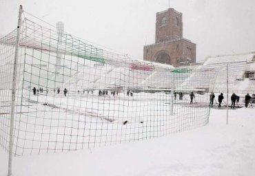 Bologna-Juventus a été reportée en raison de la neige et le terrain impraticable.