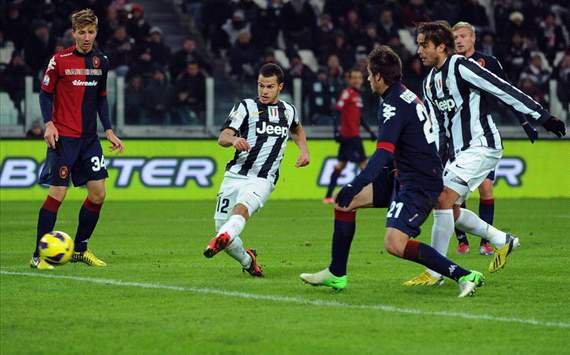 La Juventus a eu de la peine pour se qualifié pour le tour suivant face à Cagliari