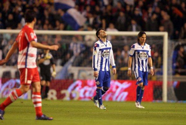 Le Deportivo se trouve dans une situation de l'enfer en perdant contre Granada à Riazor