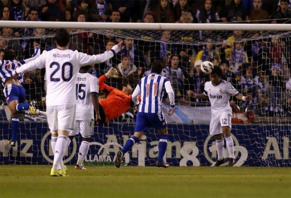 Bonne prestation du Deportivo qui n'a pas pu éviter la défaite contre le Real Madird