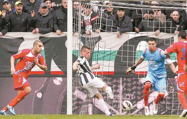 Victoire difficil de la Juventus à la 91 minute face à Catania