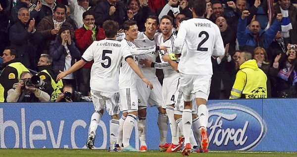 Les résultats finals des 1/4 de final aller de la Ligue des Champions 2012-2013