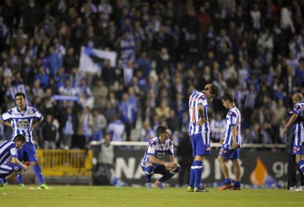 Le Deportivo a perdu contre la Real Sociedad et du coup ils descende à la Liga Adelante