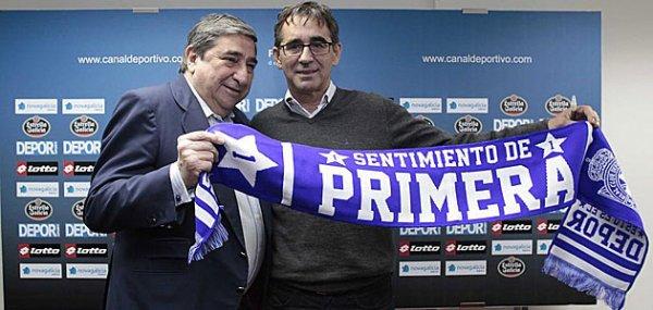Fernando Vázquez signe pour 2 ans au Deportivo comme entraineur de l'équipe