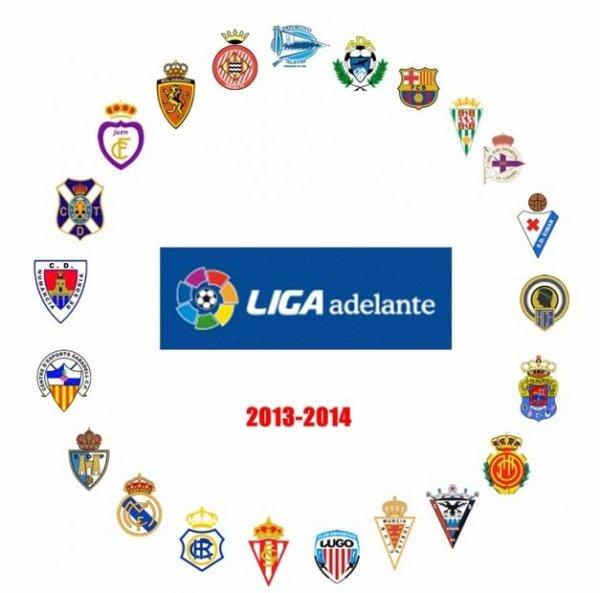 Les résultats finals de la 1 journée de la Liga Adelante 2013-2014