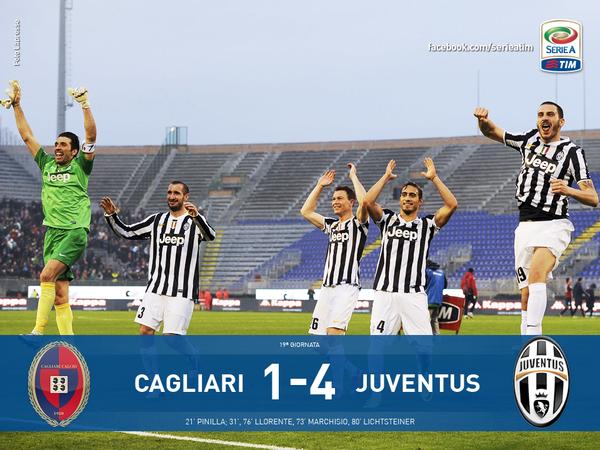 La Juventus s'est imposée facilement sur la pelouse de Cagliari