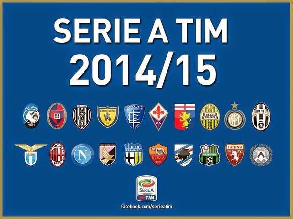 Les résultats final de la 1 journée de la Série A Tim 2014-2015.