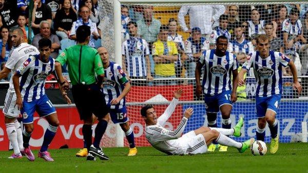 Défaite logique et douleureuse du Deportivo qui recoit une claque contre le Real Madrid.