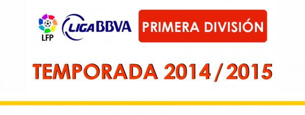 Les résultats finals de la 5 journées de la Liga BBVA 2014-2015.