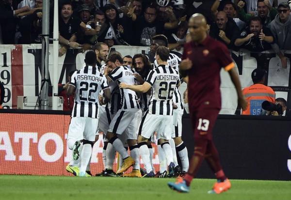 La Juventus remporte une victoire souffrante et important contre la Roma pour le scudetto.