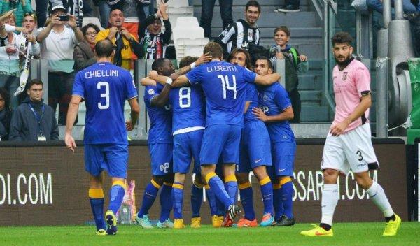 La Juventus s'est imposée facilement contre l'équipe de Palerme à la Juventus Stadium.