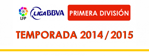 Les résultas finals de la 13 journées de la Liga BBVA 2014-2015.
