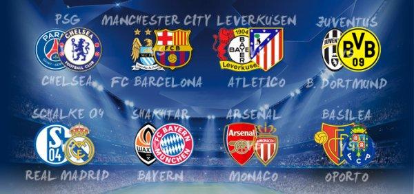 Voici le tirage au sort complet des 1/8 de final de la Ligue des Champions 2014-2015.
