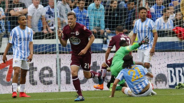 El Deportivo consiguio un punto valioso al empatar en el campo del Malaga.