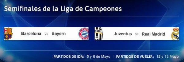 Le tirage au sort des demi-finales de la Ligue des Champions 2014-2015.