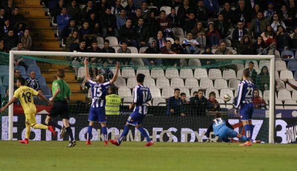 El Deportivo no ha podido ganar contra el Villareal al empatar en el estadio de Riazor.