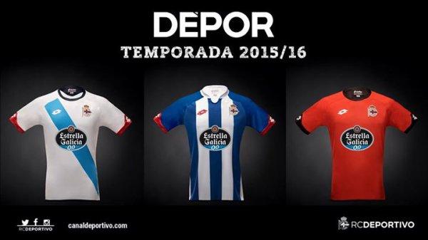 Je vous présente les maillots oficiels du Deportivo pour la saison 2015-2016.