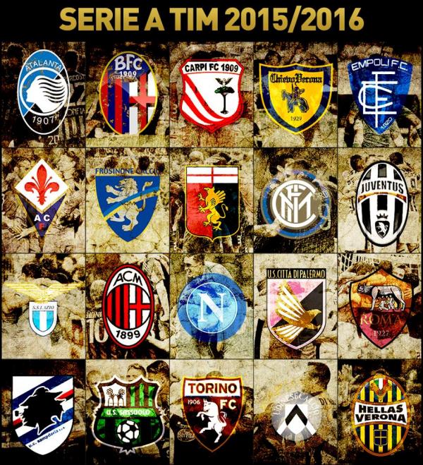 Les résultats finals de la 6 journée de la Série A Tim 2015-2016.