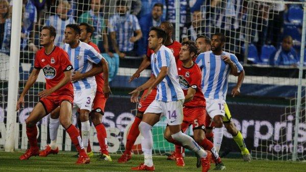 El Deportivo cayo derrotado en el campo del Malaga en el estadio de la Roselada.