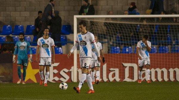 El Deportivo consiguio una victoria en el campo del Llagosterra en la Copa del Rey.