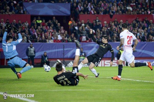Mauvaise opération de la Juventus qui s'est incliné sur la pelouse de Séville.