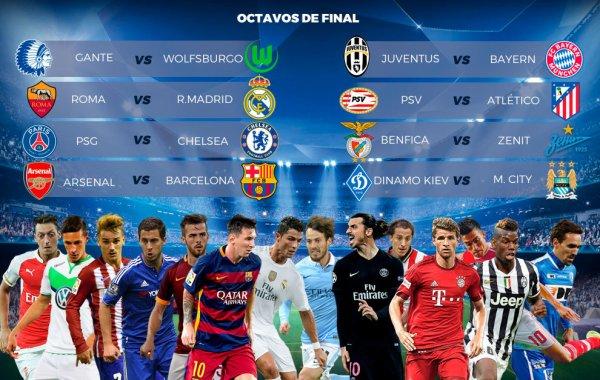 Le tirage au sort des 1/8 de final de la Ligue des Champions pour la saison 2015-2016.