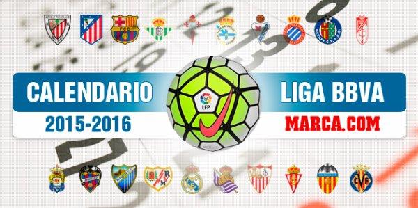 Les résultats finals de la 18 journées de la Liga BBVA 2015-2016.