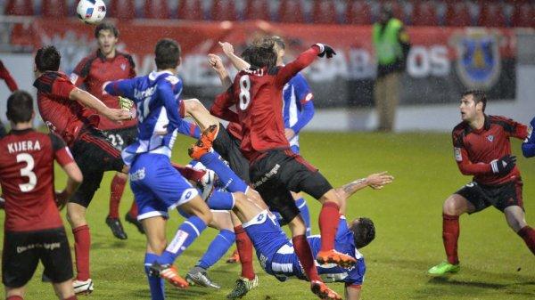El Deportivo logro un buen resultado para la Copa del Rey al empatar en Mirandés.