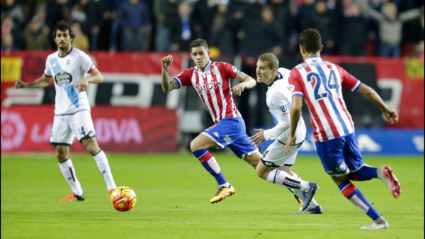 El Deportivo obtuvo un punto valioso al empatar en el campo del Sporting Gijon.